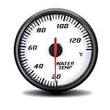 Di alta qualità Pannello bianco misuratore di temperatura del misuratore di temperatura dell'acqua del motociclo dell'automobile modificata 60MM che corre 20~130 ° C