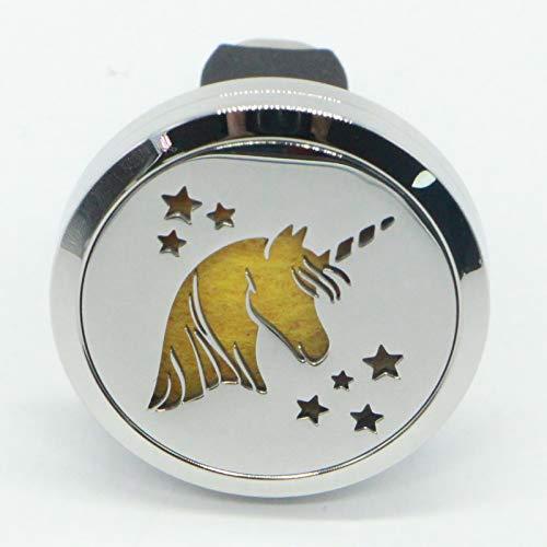 Zen'Arôme - Diffusore per Auto a Forma di Unicorno, in Acciaio Inox, Taglia U
