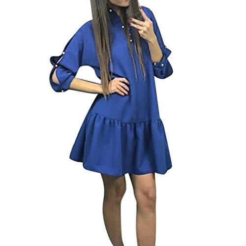 081d1df284f0db Amlaiworld Frauen Frühling Herbst Freizeit Kleider locker weich Faltenrock  Mode Elegant Party Kleid.