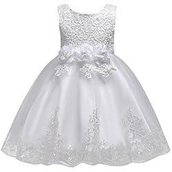 cad5687c834c UOMOGO® Abito Bambina Principessa Vestito da Cerimonia per la Damigella  Bowknot Floreale Abiti per la