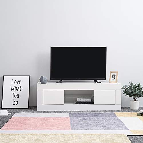 Die Klassische Moderne Tv-ständer (TV Board Fernsehschrank weiß Hochglanz TV-Schrank 25 x 35x 40 CM Wohnzimmermöbel,Versand aus UK,Weiß)