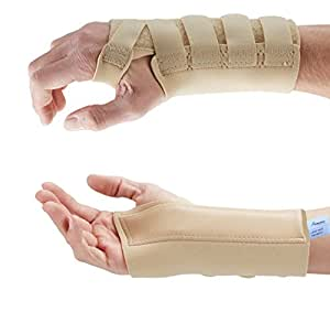 Actesso Beige Wrist Support Carpal Tunnel Splint for Sprains, Arthritis and Wrist Pain. Medically Approved, Neoprene (Small Left)