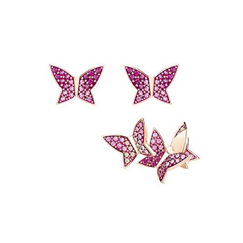 Swarovski Lilia Ohrringset, mehrfarbig, rosé Vergoldung