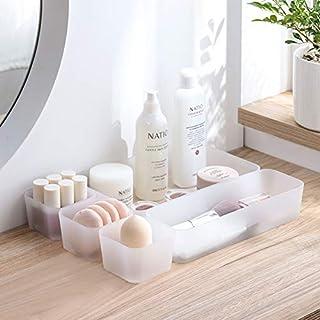 AEVEL Schubladen-Finishing-Box für Make-up-Klassifizierung, Separate Schublade, Schminktisch-Organizer, freie Kombination (Set von 5 Stück) weiß