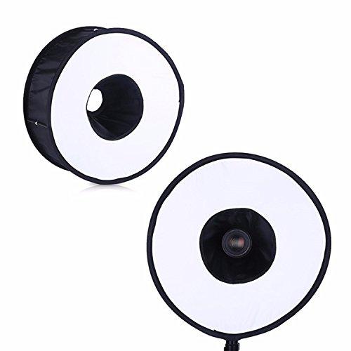 Exmax® Portable rund universal klappbar Magnet Ring Diffusor Softbox für Makro Eye Light Flash Schatten