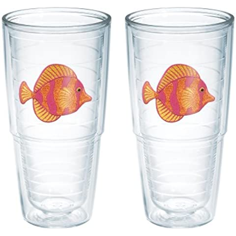 TERVIS Tumbler, 24-Ounce, Tropical Fish, by Tervis