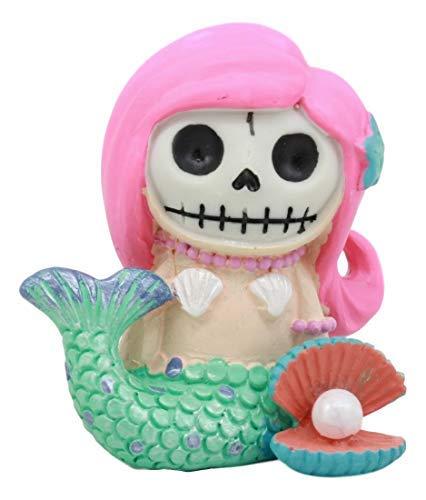 Ebros Kleine Meerjungfrau Furrybones Ariel-Figur klein 7 cm hoch Pelzknochen Skelett Deko Statue