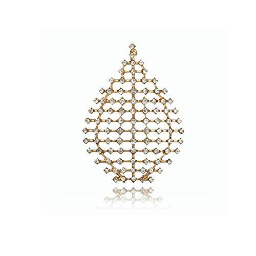 Beleuchtung Reiner Diamant (Zwzi Ethnischen Stil Eardrop geometrische Diamant Tropfen Tropfen Ohrringe einfache Hohle Single nur Ohrringe Ohr hängen weiblich)