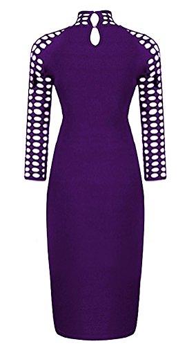 SunIfSnow Damen Schlauch Kleid, Einfarbig Gr. M, violett (Skirt Lace Metallic Pencil)