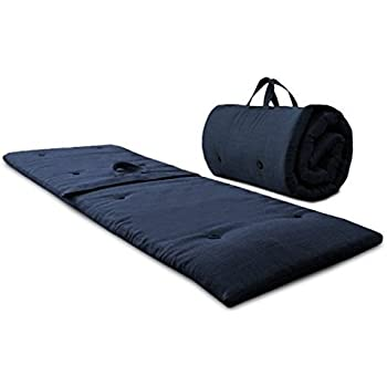 roll up travel futon mattress with handles guest bed sleep over midnight
