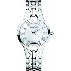 Balmain Women's Steel Bracelet & Case Sapphire Crystal Quartz MOP Dial Analog Watch B1571.33.82