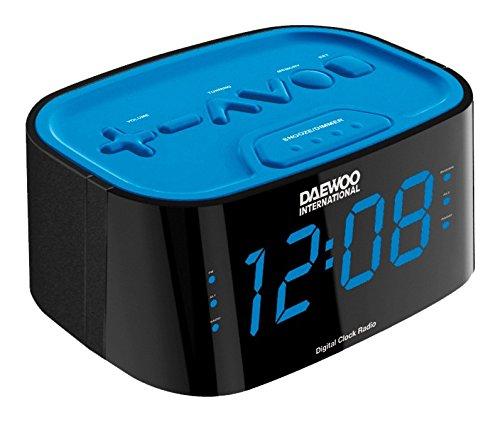 Daewoo DCR45BLAZUL - DCR45 Reloj Despertador Dual Blue