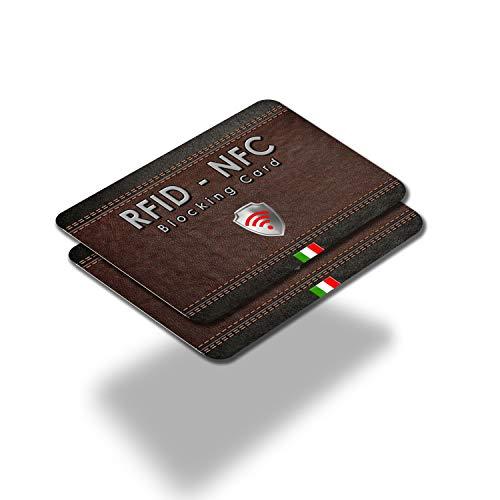 2 pezzi Protezione Anti RFID per Carte di Credito Contactless | Blocco RFID & NFC - RFID Blocking Bancomat Passaporto Documenti Identità | Sostituisce Le Custodie Di Blocco Per Porta Carte