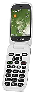 Doro 6520 Flip Mobile Phone for Elderly with Large Screen, Big Talking Number Keys and Assistance Button (Graphite/White)