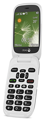 Doro 6520 Easy To Use 3G UK SIM-Free Mobile Phone - Graphite/White Best Price and Cheapest