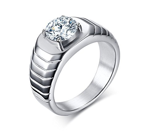 vnox-stainless-steel-cz-diamond-solitaire-hammered-wedding-band-ring-silveruk-size-p-1-2