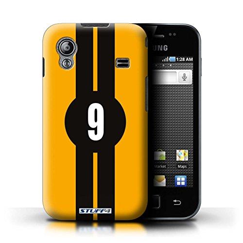 Stuff4® Hülle/Hülle für Samsung Galaxy Ace/Ford/Gelb Muster/Rennwagen Streifen Kollektion