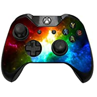 2 x Rainbow Galaxy Space Storm Sticker Skin Wraps to fit Xbox One/S Controller