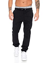 Rock creek herren chino hose RC-2093 Schwarz W31