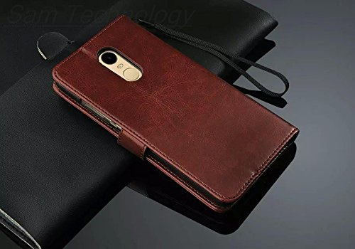 sale retailer 9d9ea b285e D-kandy VINTAGE STYLISH PU LEATHER FLIP WALLET COVER BACK CASE FOR XIAOMI  REDMI NOTE 4 - BROWN