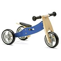Nicko Mini 2 in 1 Blue Wooden Balance Running Bike Trike 18 months - 3 years old