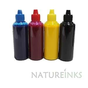 Teinture pigmentée 4 bouteilles de recharge de cartouches d'encre Noir/Cyan/Magenta/jaune - 400 ml de remplacement Epson, HP, Canon, Brother pour CISS système rechargeable ou Natureinks Seringue (400 ml)