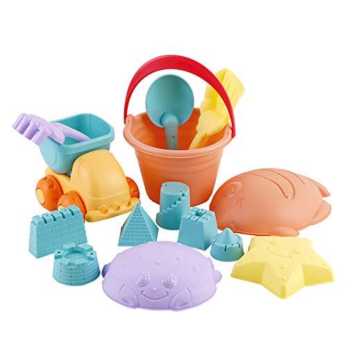 DEESEE(TM) 14 Stück Kinderstrand-Spielzeug zum Spielen mit Wasserwerkzeugen