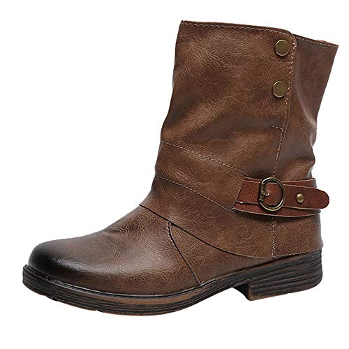 Yvelands Damenstiefel Stiefeletten Damen Herbst Winter Aushöhlen Stiefeletten Damen Heel Halb Stiefel Schuhe Casual Boots Freizeit