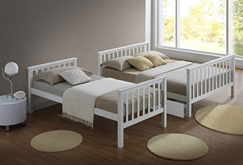 Artisan New 3-Sleeper Bed, Wood, White, 4-Piece