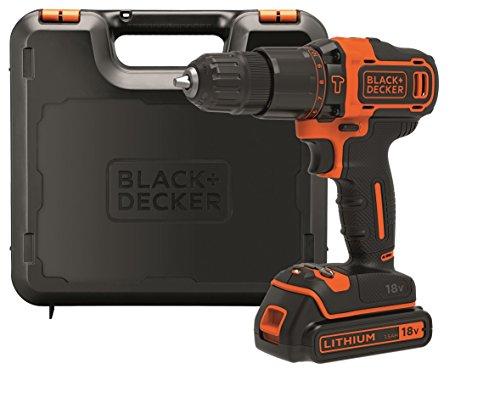 Black & Decker BDCHD18K-QW, trapano avvitatore a percussione con batteria da 18 volt