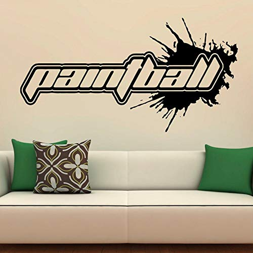Paintball Schriftzug Muster Zitate Wandtattoos für Sport Wohnzimmer Wohnkultur Vinyl Wandtattoos Schlafzimmer Hobby Wandbild Kunst 1 110X57 cm