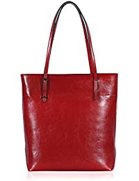 Women's New Fashion Handbag PULeather Shoulder Bags Tote Bags Hot Sale (Red) By Jieway