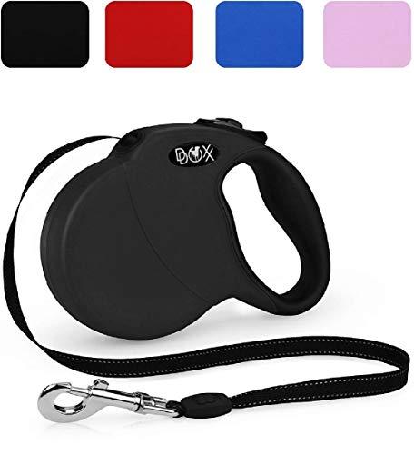 DDOXX Roll-Leine reflektierend in vielen Farben & Größen für kleine mittlere mittelgroße &...