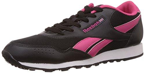 Reebok Women's Classic Proton Lp Black and Pink Running Shoes - 4 UK