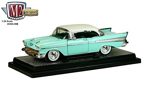 chevrolet-1957-bel-air-hardtop-surf-green-and-india-ivory-1-24-by-m2-machines-40300-49b