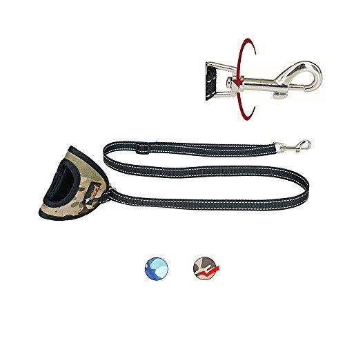 eich Gepolsterter Griff reflektierendes Gurtband Perfekt für Training Walking Großartig Spielen für Mittel- und Puppy, Camouflage ()