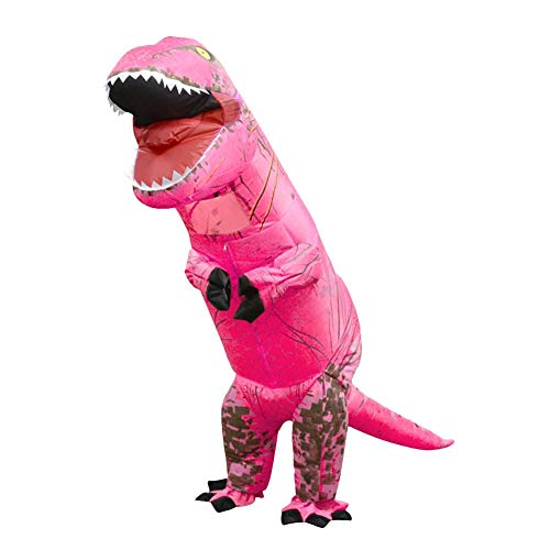 Aufblasbare Kostüm Kinder Sumo - akaddy aufblasbare Dinosaurier Kostüm T Rex Kinder Halloween Cosplay Anzug (Pink)