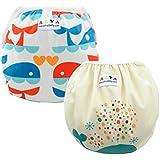 Alva Baby Couches de bain réutilisables lavables Taille Unique 2pcs paquet