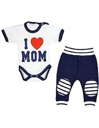 TupTam Conjunto para Bebé Pantalones Body con Estampado