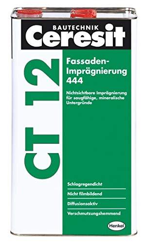 Ceresit CT 12 Fassaden-Imprägnierung 444-6 l - Nichtsichtbare Imprägnierung für saugfähige, mineralische Untergründe