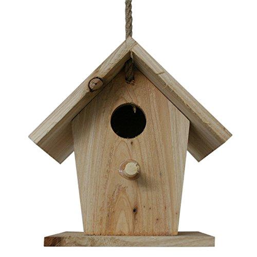 Uccello Casa Casetta per uccelli NIST casa in legno naturale da appendere in giardino