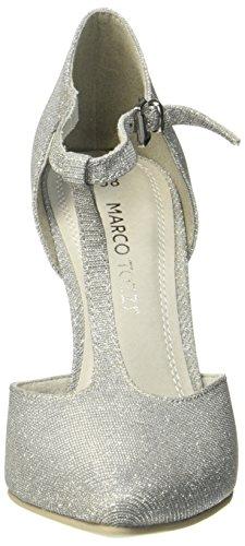 Marco Tozzi 24401, Scarpe con Chiusura a T Donna Grigio (Grey Metallic)