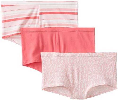 Hanes Women's Comfortsoft Cotton Stretch Boy Brief (Pack of 3)(assorted colors) -