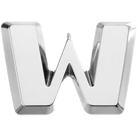 Con lettere in cromo per auto, autoadesivi, 2 pezzi - 2 Autoadesivi Lettere