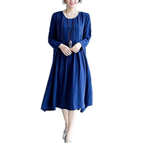 Nuan Jia Feng Fall original koreanische Version der großen Frauen verlieren Fett MM dünne Baumwolle Bürgerliche einfache und Bequeme Kleidung war, Blue, one Size