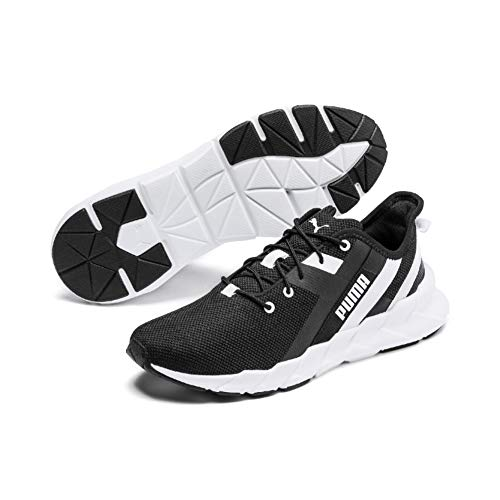 PUMA Weave XT Wns, Zapatillas Deportivas para Interior para Mujer, Black White, 38.5 EU