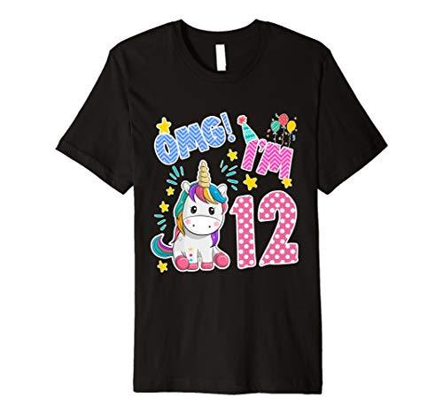 Einhorn 12. Geburtstag T-Shirt- 12 Geburtstag einhorn tshirt -