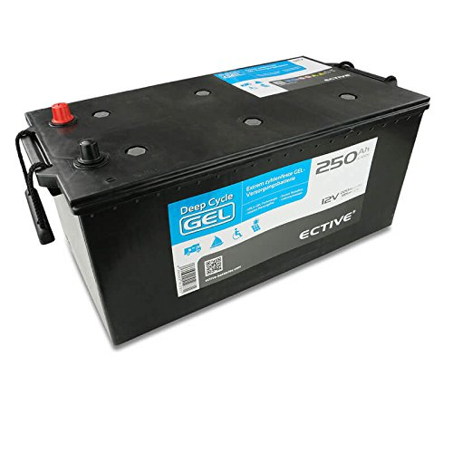 ECTIVE 250Ah 12V Gel Versorgungsbatterie Deep Cycle Solar Batterie VRLA Zyklenfest in 7 Varianten (wartungsfrei) 5 Ah Sla-batterie