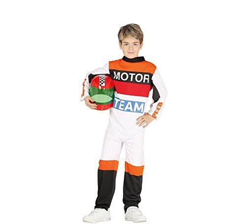Guirca- Costume Pilota Moto Bambino 10/12 Anni, Multicolore, 10-12 (142-148 cm), 87502