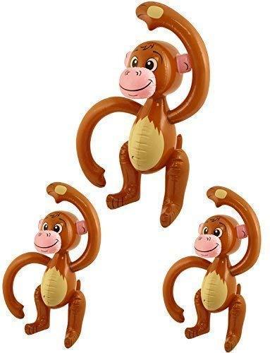 Aufblasbarer Affe - Packung mit 3 [Spielzeug]